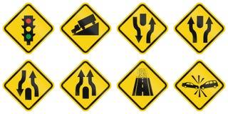 Предупреждающие дорожные знаки в Колумбии иллюстрация вектора