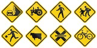 Предупреждающие дорожные знаки в Колумбии бесплатная иллюстрация
