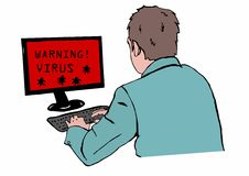 Предупреждающий вирус Стоковое Изображение