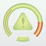 Предупреждающий знак внимания с сигналом тревога маштаба Стоковые Изображения RF
