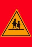 Предупреждающий знак студента стоковая фотография rf