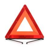 Красный предупреждающий треугольник Стоковое фото RF