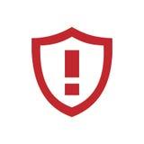 Предупреждающий значок экрана Стоковое фото RF