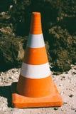 Предупреждающий конец конуса движения вверх Стоковое Изображение RF