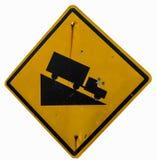 Предупреждающий наклон Стоковые Изображения