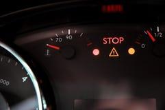 Предупреждающий свет треугольника и Стоковая Фотография RF