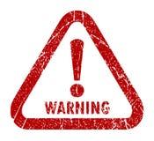 Предупреждающий штемпель Стоковые Фотографии RF