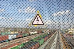 Предупреждение знака опасности. Стоковая Фотография RF