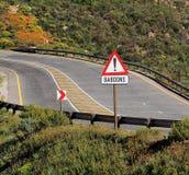 Предупреждение знака павианов стоковые изображения rf