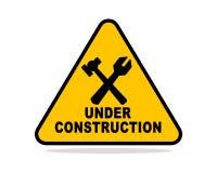 Предупреждение конструкции Стоковая Фотография RF