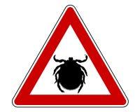 предупреждение тикания знака Стоковые Изображения RF