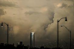 Предупреждение торнадо в OKC Стоковые Фотографии RF