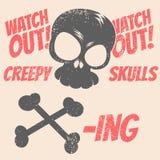 Предупреждение черепа Стоковое Изображение
