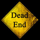 Предупредительный знак мертвого конца Стоковое Изображение
