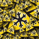 Предупредительный знак снежка Стоковые Фотографии RF