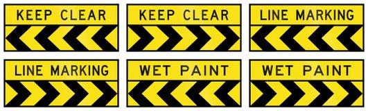 Предупредительные знаки в Квинсленде - Австралии Стоковое Фото