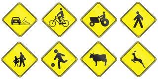 Предупредительные знаки используемые в Уругвае Стоковое Изображение