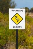 Предупредительный знак змейки Стоковые Изображения