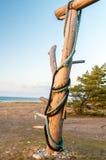 Предупредительный знак на пляже серферов Стоковые Изображения RF