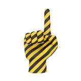 Предупредительный знак руки Стоковые Изображения RF