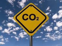 Предупредительный знак углекислого газа Стоковая Фотография RF