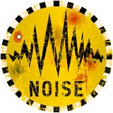 Предупредительный знак шума Стоковая Фотография