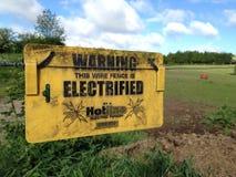 Предупредительный знак электричества Стоковые Фото