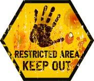 Предупредительный знак Стоковое фото RF