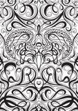 Предусматривайте карточки или книгу картины орнамента играя с каллиграфической декоративной предпосылкой элементов Стоковые Фотографии RF