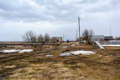 Предыдущая весна в русской провинции стоковая фотография rf