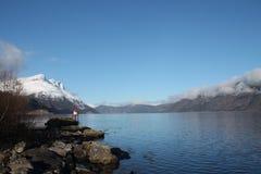 Предыдущая весна в Nordfjord Стоковая Фотография RF