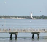 предыдущая пристань утра рыболовства Стоковые Изображения RF