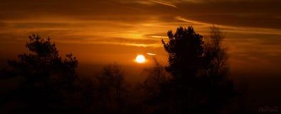 предыдущее светлое утро Стоковые Фотографии RF