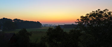 предыдущее утро ландшафта Стоковое Фото