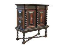 Предыдущий барочный шкаф на стойке Шкаф сделанный о 1670 к 1700 Стоковые Фотографии RF