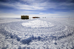 приантарктическая научно-исследовательская станция Стоковое фото RF