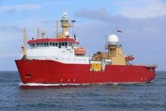 приантарктический экспедиционный сосуд Стоковые Изображения RF