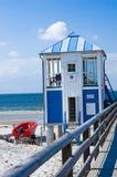 прибалтийское море пристани пляжа Стоковая Фотография