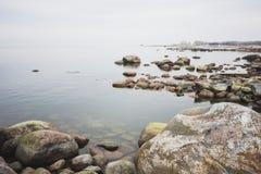 прибалтийское море свободного полета каменистое Стоковое Изображение RF