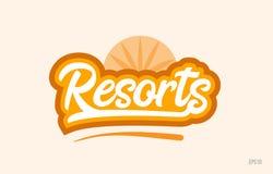 прибегает оранжевый значок логотипа текста слова цвета иллюстрация штока
