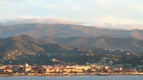 Прибегните на Albisola-Марине морского побережья, Савоне, Италии сток-видео