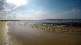 Прибой Балтийского моря в Польше сток-видео