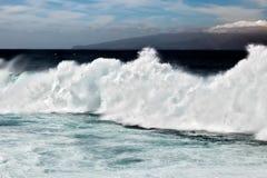 Прибой вверх в Тенерифе Стоковое Изображение RF