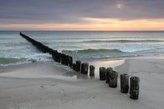прибой восхода солнца Стоковая Фотография