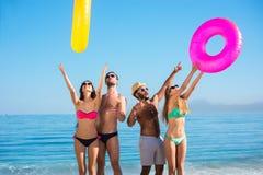 прибой лета моря сандалий праздников пляжа Стоковое Изображение RF