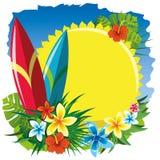 Прибой и солнце Стоковые Фотографии RF