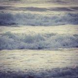 Прибой моря конца-вверх Стоковое Фото