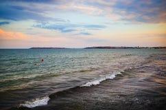 Прибой моря на зоре Стоковое Изображение