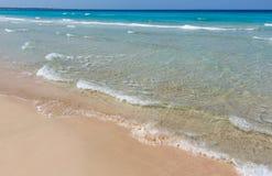 Прибой моря на пляже Стоковое фото RF