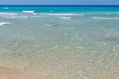 Прибой моря на пляже Стоковая Фотография RF